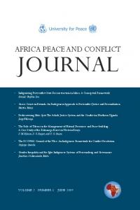 Mato Oput - Africa Peace and Conflict Journal - University for Peace
