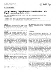 Matrine attenuates endotoxin-induced acute liver injury after hepatic ...
