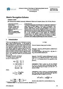 Matrix Encryption Scheme - ASTESJ