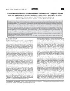 Matrix Metalloproteinase-2 and its Relation with Incisional ... - MedIND