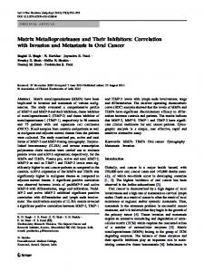 Matrix Metalloproteinases and Their Inhibitors: Correlation ... - medIND