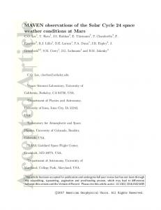 MAVEN observations of the Solar Cycle 24 ... - Wiley Online Library