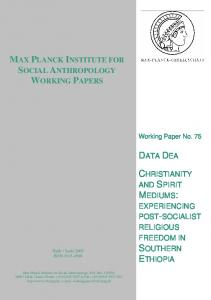 max planck institute for social anthropology working papers data dea ...
