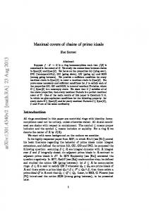 Maximal covers of chains of prime ideals