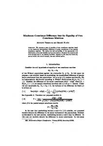 Maximum Covariance Difference Test for Equality of Two Covariance ...