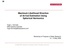 Maximum Likelihood Direction of Arrival Estimation ...