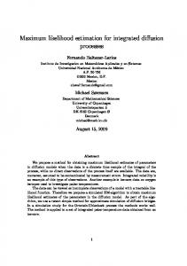 Maximum likelihood estimation for integrated ... - Semantic Scholar