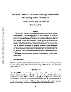 Maximum Likelihood Estimation from Sign Measurements with ...