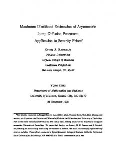 Maximum Likelihood Estimation of Asymmetric Jump-Diffusion ...