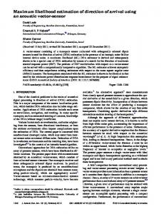 Maximum likelihood estimation of direction of arrival using an acoustic ...