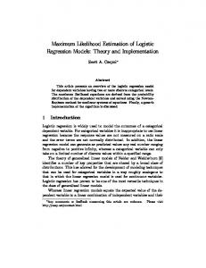 Maximum Likelihood Estimation of Logistic Regression Models ...