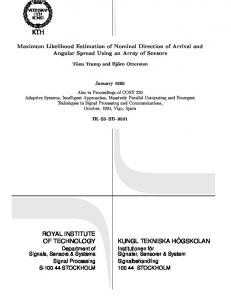 Maximum Likelihood Estimation of Nominal Direction of ... - CiteSeerX