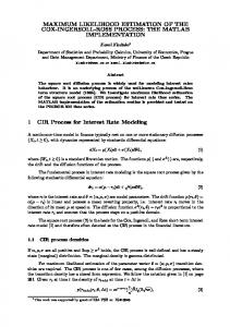 MAXIMUM LIKELIHOOD ESTIMATION OF THE COX ... - DSP