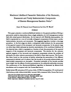 Maximum Likelihood Parameter Estimation of the ... - CiteSeerX