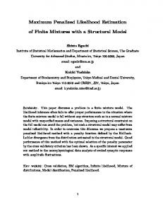 Maximum Penalized Likelihood Estimation of Finite ... - CiteSeerX