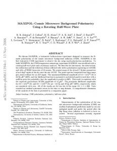 MAXIPOL: Cosmic Microwave Background Polarimetry Using a ...