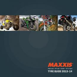 Maxxis Motorcycle Tyre Catalogue 2013