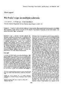 McArdle's sign in multiple sclerosis - NCBI
