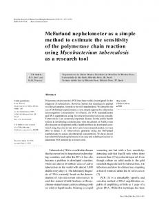 McFarland nephelometer as a simple method to