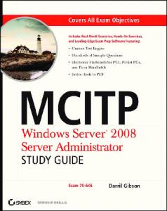 MCITP: Windows Server 2008 Server ... - Parent Directory
