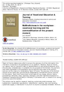 McMindfulness in the workplace: vocational learning ...