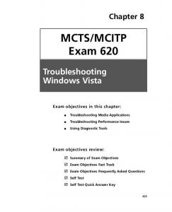 MCTS/MCITP Exam 620 - SciTech Connect