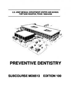MD0513 Preventive Dentistry - MilitaryNewbie.com