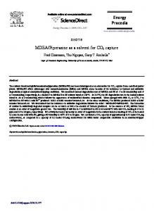 MDEA/Piperazine as a solvent for CO2 capture - ScienceDirect