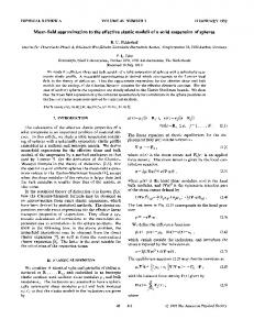 Mean-field approximation to the effective elastic ... - APS Link Manager