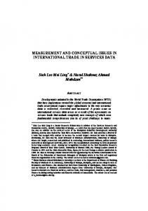MEASUREMENT AND CONCEPTUAL ISSUES IN ... - umexpert