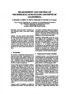 Measurement and control of neuromuscular blockade and depth of