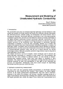 Measurement and Modeling of Unsaturated Hydraulic Conductivity