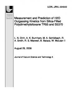 Measurement and Prediction of H2O Outgassing ... - Site Index Page