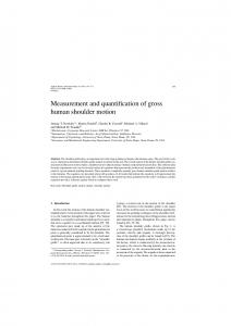 Measurement and quantification of gross human