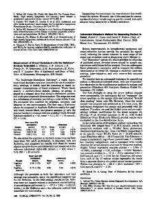 Measurement of Blood Cholesterol with the ... - Clinical Chemistry