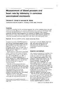 Measurement of blood pressure and heart rate ... - Laboratory Animals