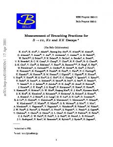 Measurement of Branching Fractions for B->\pi\pi, K\pi and KK Decays