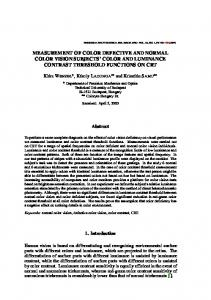 measurement of color defective and normal color vision subjects' color ...