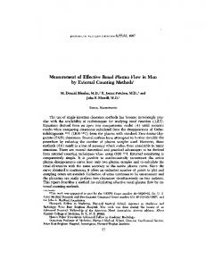 Measurement of Effective Renal Plasma Flow in Man by External
