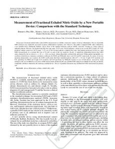 Measurement of Fractional Exhaled Nitric Oxide by ... - Semantic Scholar