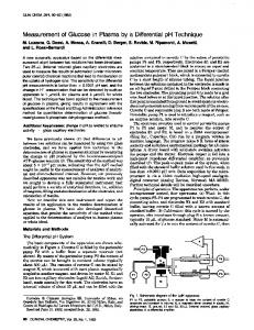 Measurement of Glucose in Plasma by a
