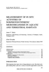 Measurement of in Situ Activities of ...