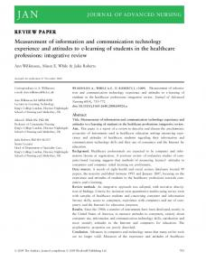 Measurement of information and communication technology ...