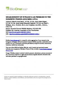 measurement of intraocular pressure in the domestic ...