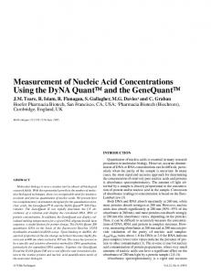 Measurement of Nucleic Acid Concentrations Using ... - BioTechniques