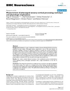 Measurement of pharyngeal sensory cortical processing: technique ...
