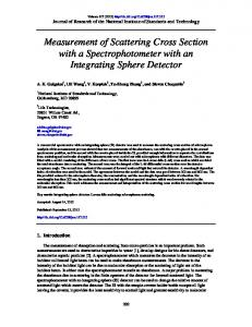 Measurement of Scattering Cross Section with a ... - NIST Page