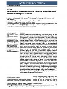 Measurement of skeletal muscle radiation ... - Wiley Online Library