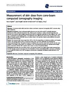 Measurement of skin dose from cone-beam computed tomography ...