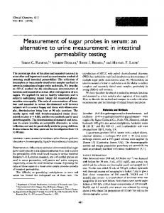 Measurement of sugar probes in serum: an ... - Clinical Chemistry